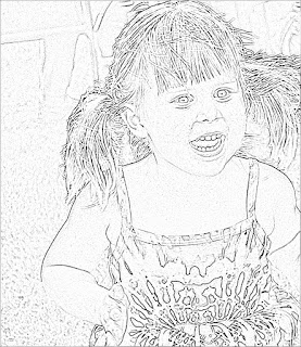 Sketch of a Little Girl from Snapstouch.com