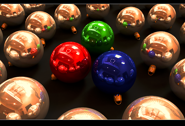 merry christmas balls wallpaper hd
