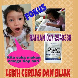 Omega memang bagus melegakan batuk-batuk anak