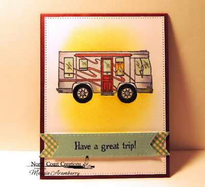 North Coast Creations Stamp Set: Camper Sweet Camper, ODBD Custom Dies:  Pierced Rectangles, North Coast Creations Paper Collection: Sweet Shoppe