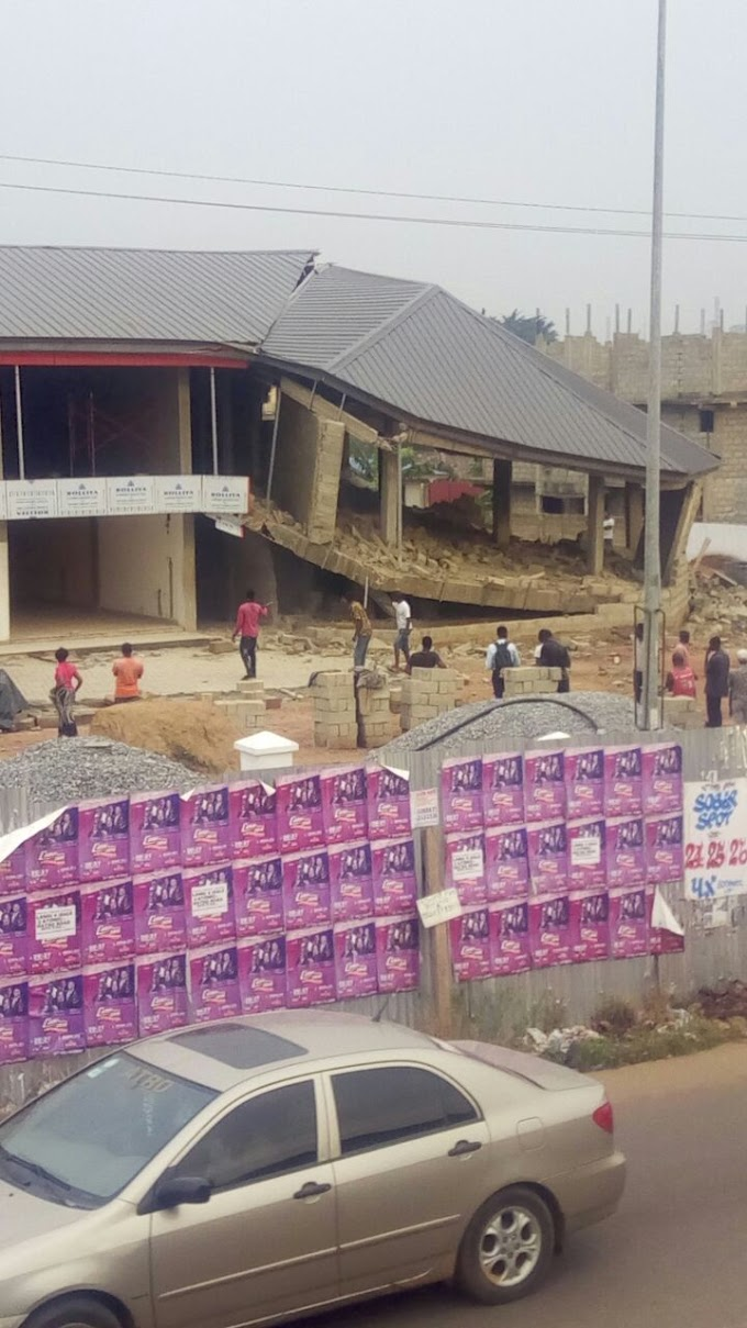 Market building collapses, construction workers flee in Hatso