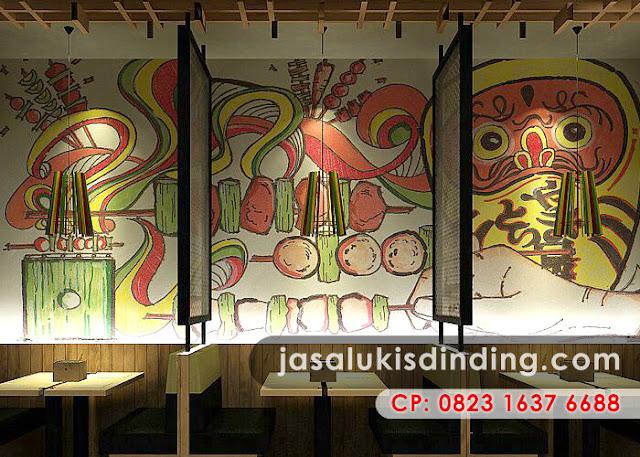 Jenis dekorasi cafe yang sedang trend saat ini jasa for Mural untuk cafe