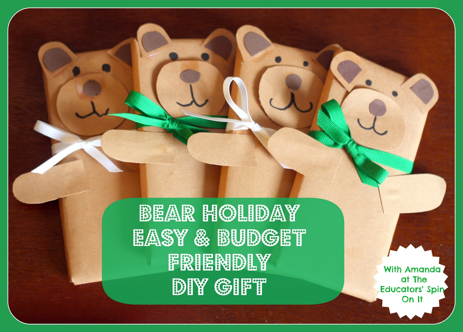 The Educators Spin On It Holiday Bear Easy And Budget
