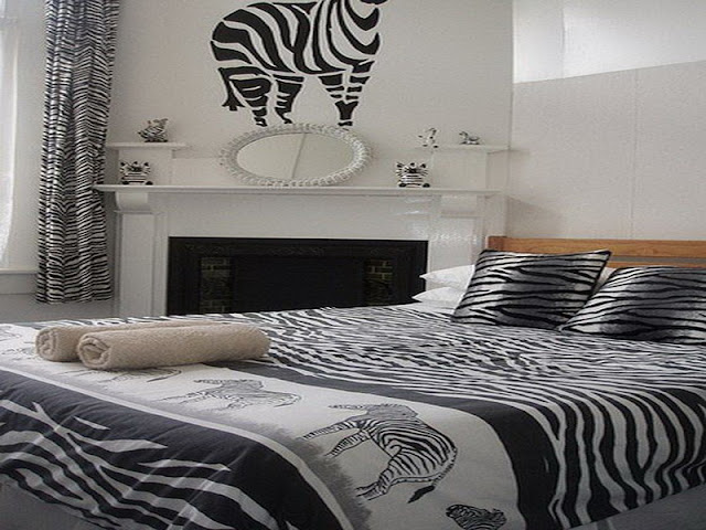 zebra print room ideas with white wall colors