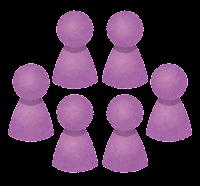 グループのイラスト(紫)