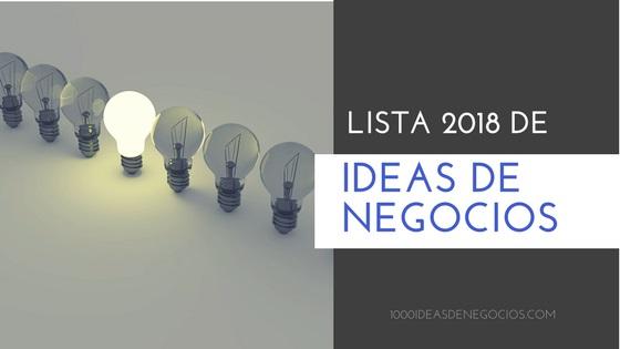 lista de ideas de negocio
