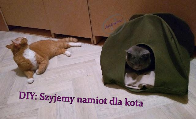 szycie DIY - namiot dla kota
