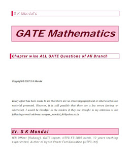 GATE MATHEMATICS CHAPTER WISE ALL GATE QUESTIONS OF ALL BRANCH