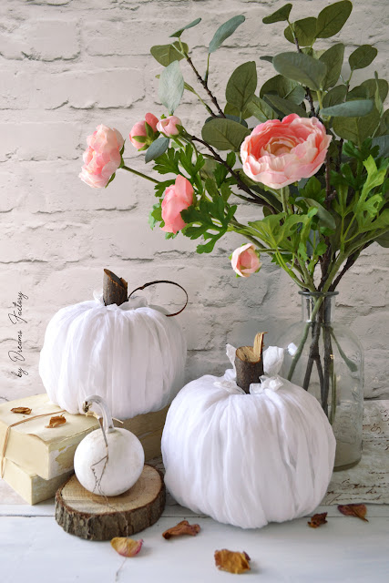 Make these stunning DIY no-sew fabric pumpkins in just 5 minutes and use them all over your home for beautiful fall decorating!