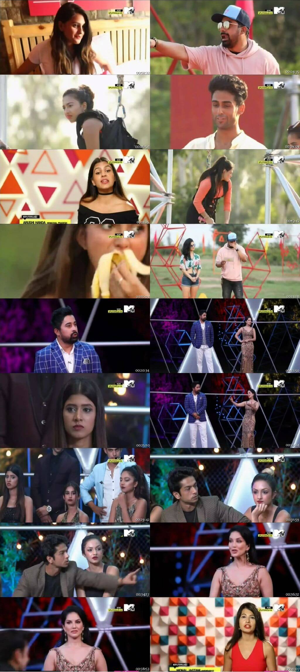 Screenshots Of Hindi Show Splitsvilla 11 16th September 2017 Episode 06 300MB 720P HD