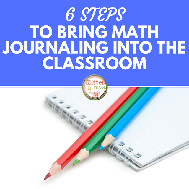 Are you starting math journals in your elementary classroom? Read about six easy ways to use journal entries  during the school day!