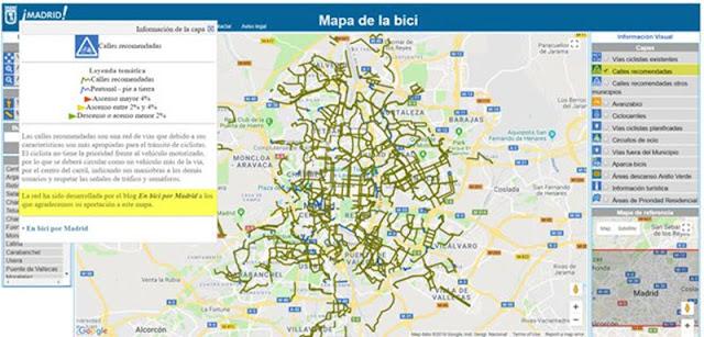 Mapa Carril Bici Gijon.Nuevo Mapa Online De La Bici Del Ayuntamiento Junio 2018 En Bici Por Madrid