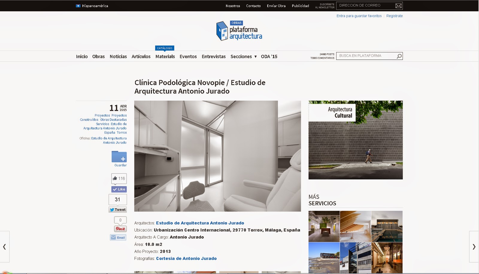 PLATAFORMA ARQUITECTURA estudio de arquitectura antonio jurado