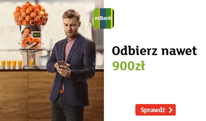 900 zł premii do firmowego mBiznes konta w mBank