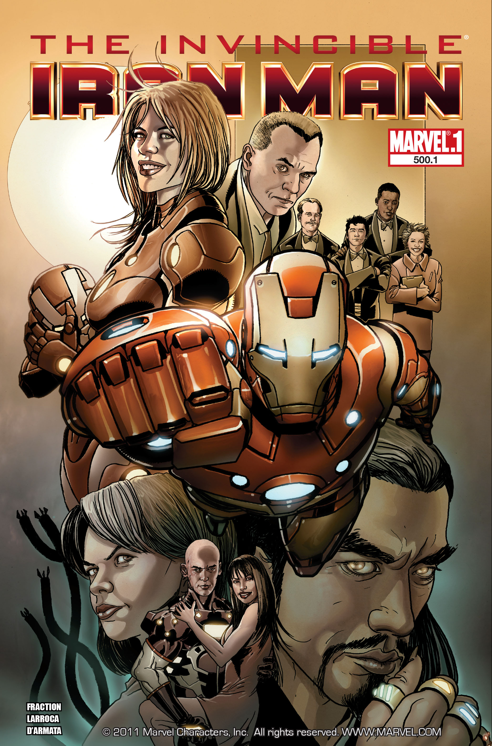 Invincible Iron Man (2008) 500.1 Page 1