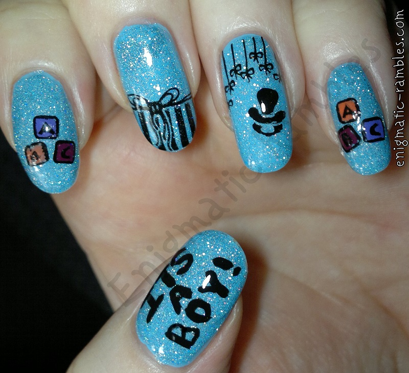 baby-boy-stamped-nails-nail-art-bundle-monster-h21-bmh21