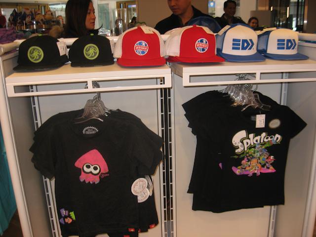 Splatoon hats real life merchandise Nintendo World Store NY
