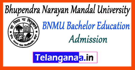 BNMU Bhupendra Narayan Mandal University Madhepura B.Ed Admission 2018-19 Application