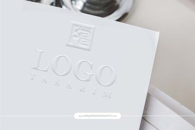 3D logo tasarımı kağıt kabartma