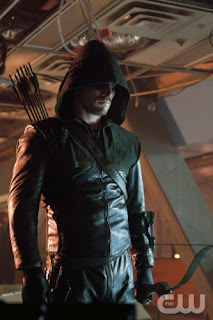 "Stephen Amell as Arrow in Arrow Episode # 3 ""Lone Gunmen"""