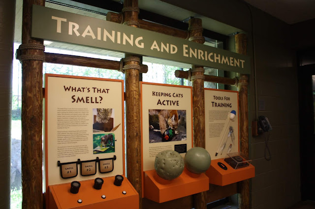 Exhibit about training animals at the Como Park Zoo in St. Paul, Minnesota