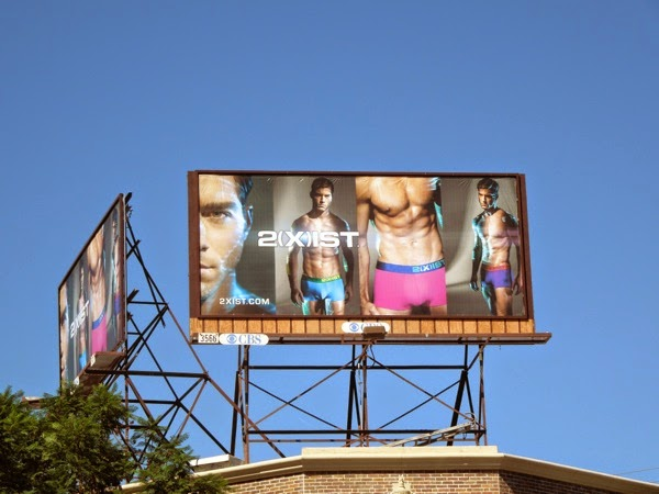 Andre Ziehe 2Xist Electric underwear billboard