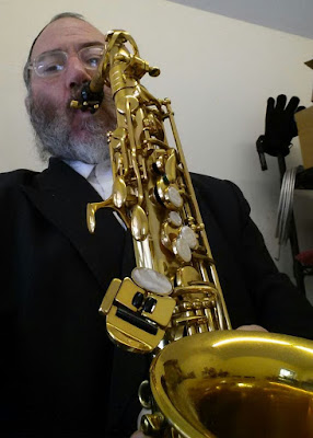 Zalmen Pollak Playing Saxophone
