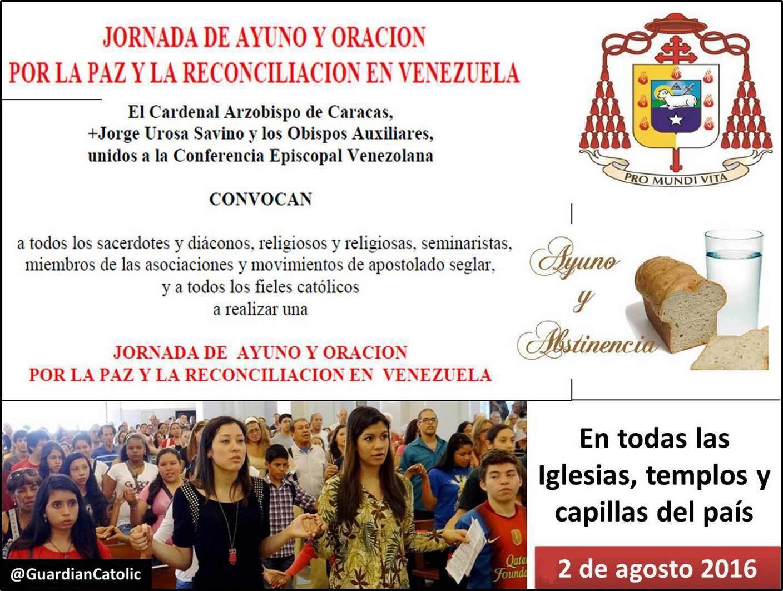 El Guardián Católico: #2Agosto Iglesia convoca Jornada de Ayuno y ...