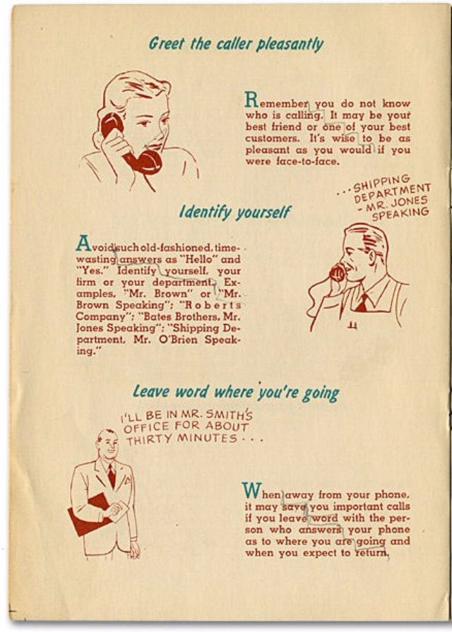 How to Make Friends by Telephone From the 1940s ~ vintage