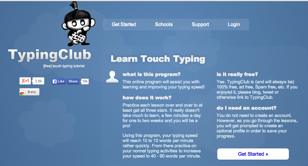 Site Review: Typing Club