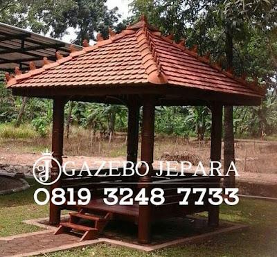 Gazebo Minimalis Atap Genteng