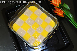 FRUIT SMOOTHIE PUDDING