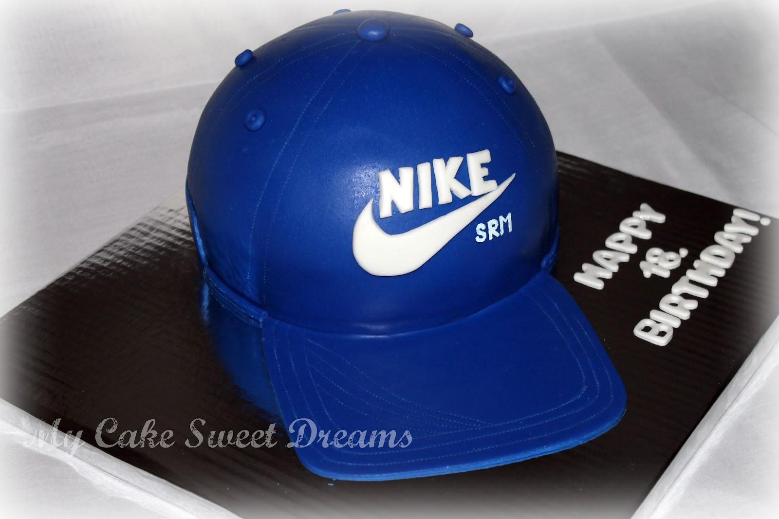 My Cake Sweet Dreams Nike Hat Birthday Cake