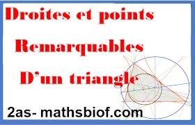 Droites et points remarquables d'un triangle 2as-2ac college maroc (4eme france)