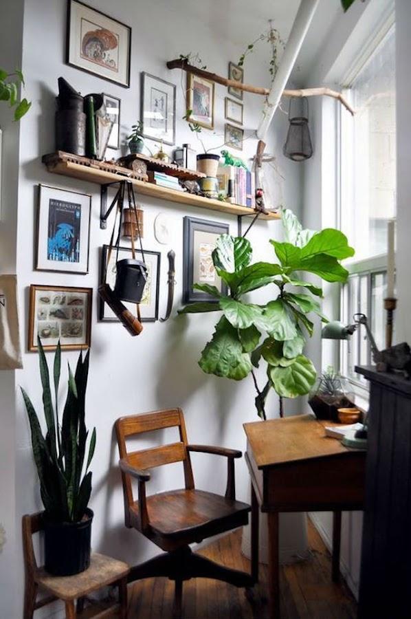 Despacho en esquina del salón