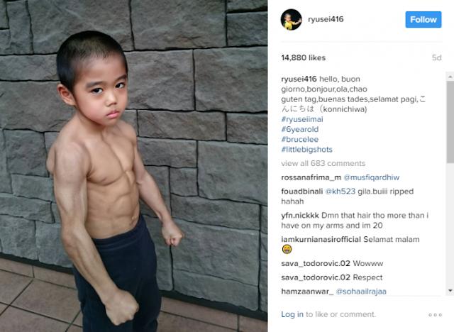Niño, reencarnación de Bruce Lee, ya tiene Instagram