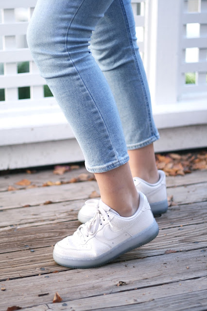 Nike, white trainers, air force 1, style, fashion blog