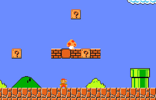 Bermain Game Super Mario Bros di Android