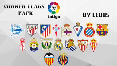 PES 2017 LaLiga CornerFlags Pack by Leo05