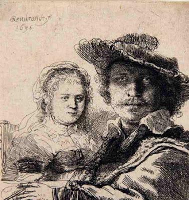 Rembrandt, Zelfportret met Saskia