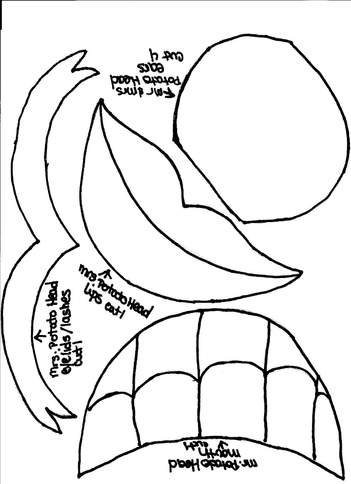 The Activity Mom Magnetic Mr Potato Head Printable