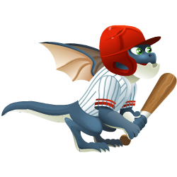 Appearance of Homerun Dragon when teenager