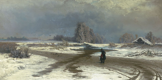 """Fyodor Vasilyev's """"Thaw"""" from 1871, now at the Tretyakov Gallery in Moscow"""