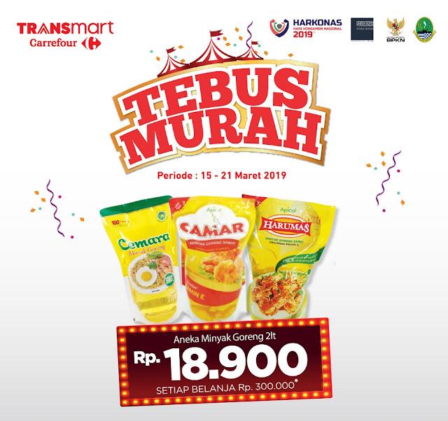 #Transmart #Carrefour - #Promo #Katalog Tebus Murah Minyak 2Lt 18Ribuan (s.d 21 Maret 2019)