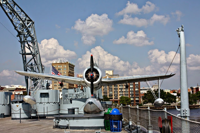 Plane on the deck of the Battleship North Carolina in Wilmington, NC.