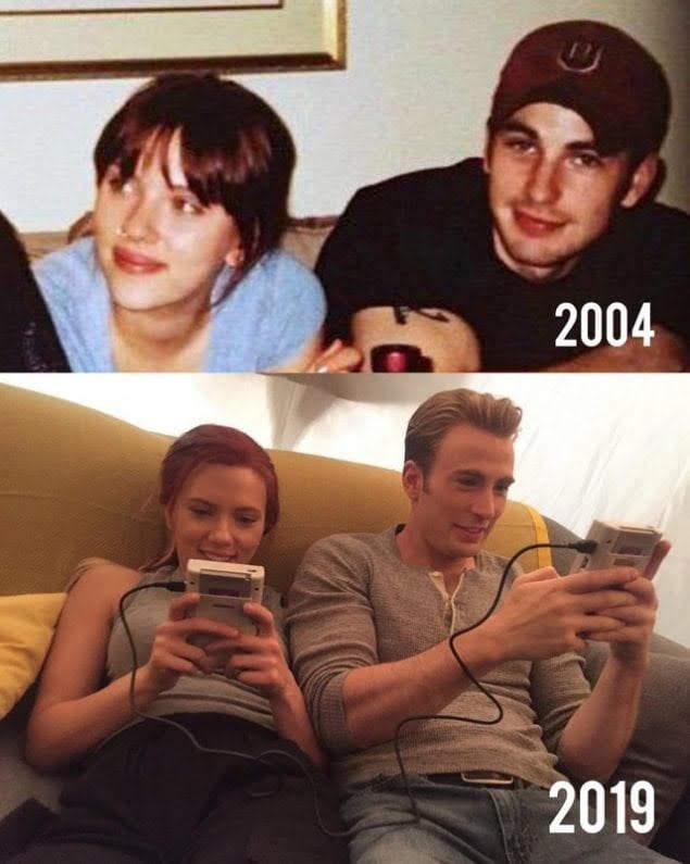 15 years of friendship between Scarlett Johansson and Chris Evans : 15年以上も前から、ずっと親友同士のキャプテン・アメリカとブラック・ウィドウ😄