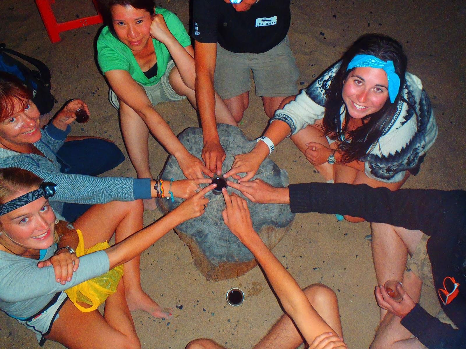 Group camping in desert in Peru