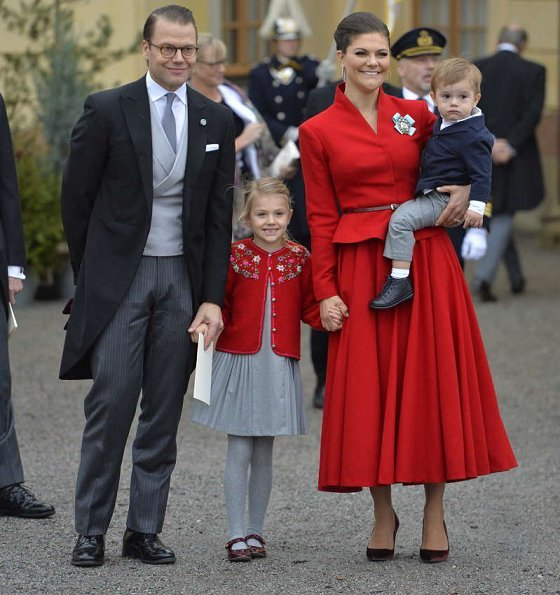 Crown Princess Victoria, Princess Estelle, Princess Sofia, Princess Madeleine Valentino Long Sleeve Floral Print Silk Dress