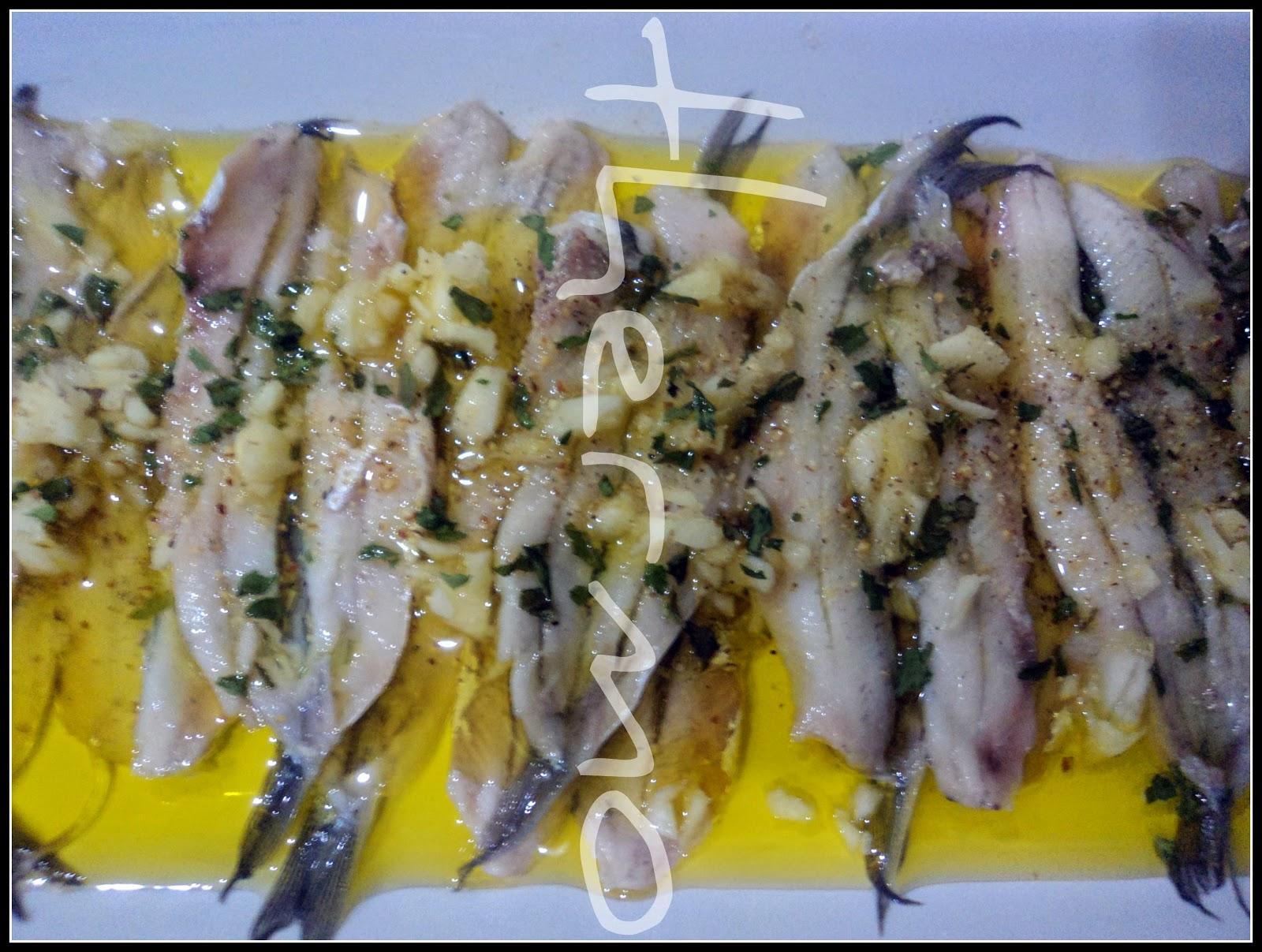 receta casera anchoas, boquerones en vinagre, bocartes