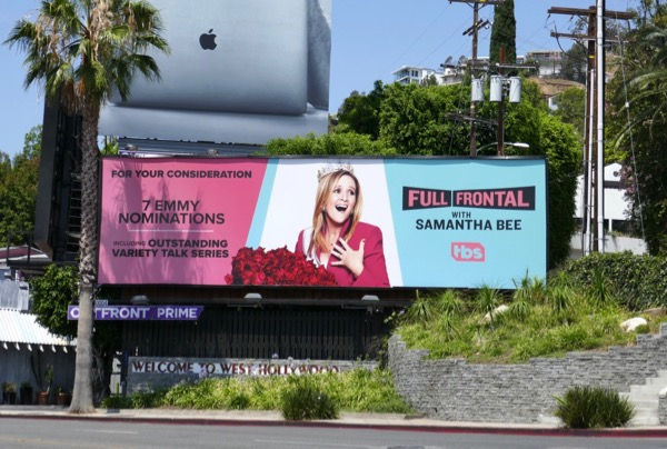 Full Frontal Samantha Bee 2018 Emmy nominee billboard